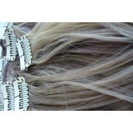 Волосы на заколках голливудские локоны мелированные №P16/18t/613