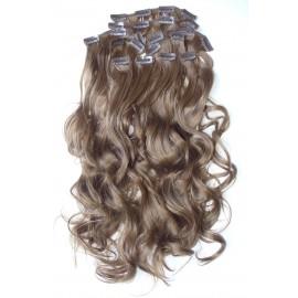Волосы на заколках завитые светло коричневый золотистый №8