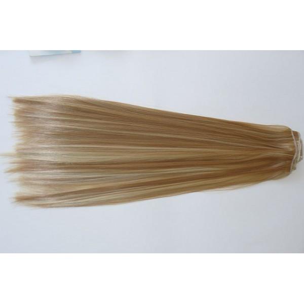 Волосы на заколках набор прямые мелированные тон №р27/613