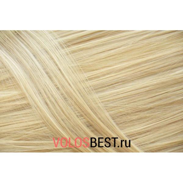 Волосы на заколках набор прямые русые мелированные тон №M27/613