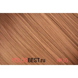 Волосы на заколках набор прямые натурально рыжие тон №30