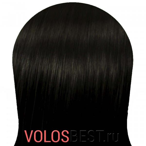 Натуральные волосы на заколках набор прямые черные тон №1, 110 грамм, 55 см