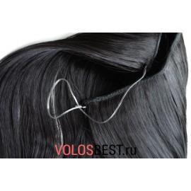 Волосы на леске прямые черные №1
