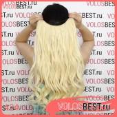 Волосы на леске завитые блонд №24