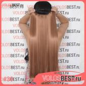 Волосы на леске прямые рыжие №30