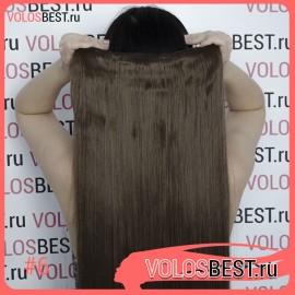 Волосы на леске прямые светло-коричневые №6
