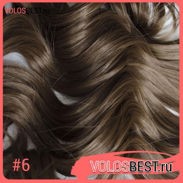 Волосы на леске завитые СВЕТЛО-КОРИЧНЕВЫЕ №6