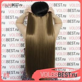 Волосы на леске прямые светло-коричневые золотистые №8