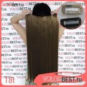 Волосы на одной ленте русые на заколках №18t