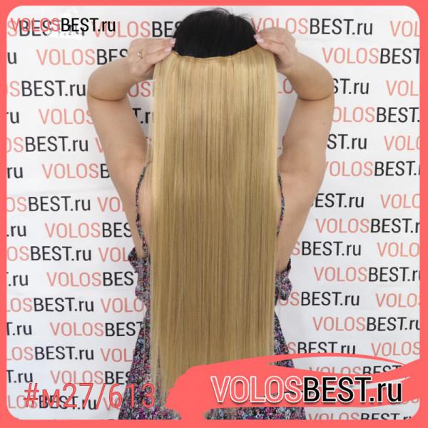 Волосы на одной ленте трессе мелированные m27/613
