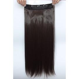 Волосы на одной ленте трессе шоколад 4