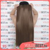 Волосы на одной ленте трессе светло-коричневые 6