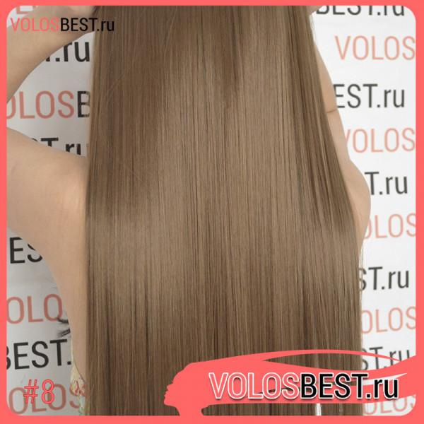 Волосы на одной ленте трессе светло коричневые золотистые 8