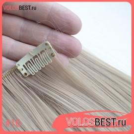 Волосы на заколках набор прямые русые тон №16