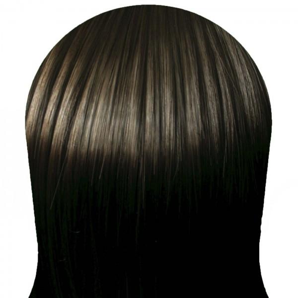 Волосы на заколках набор прямые темно-коричневые тон №2