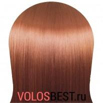 Волосы на заколках прямые набор медно рыжие тон №350
