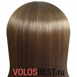 Волосы на заколках набор прямые коричневые мелирован.  тон №4-8