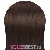 Волосы на заколках набор прямые светло-коричневые тон №6