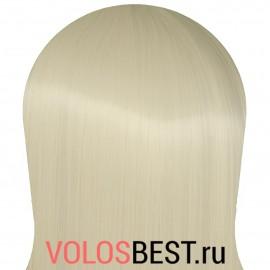 Волосы на заколках набор прямые снежный блонд тон №60