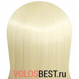 Волосы на заколках набор прямые шведский блонд тон №60/613