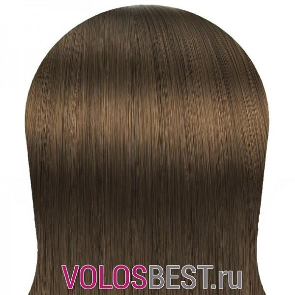 Волосы на заколках набор прямые светло-коричневые золотистые тон №8