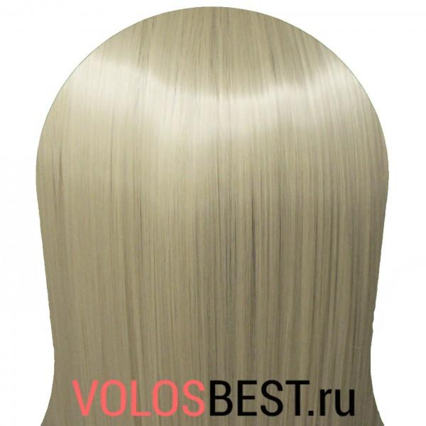 Волосы на заколках набор прямые стальной блонд тон №88