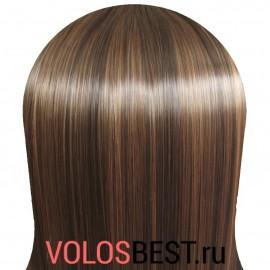 Волосы на заколках набор прямые коричневые мелирован. тон №P2/30