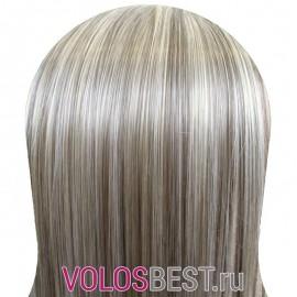Волосы на заколках набор прямые мелированные тон Р6/613