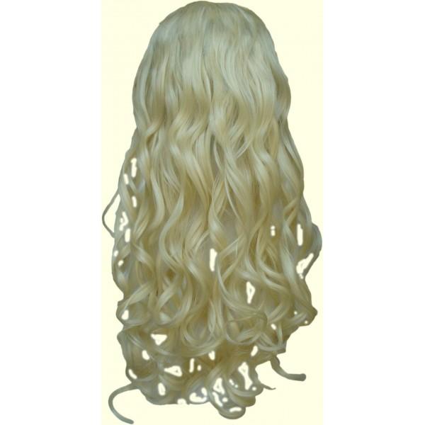 Волосы на заколках голливудские локоны натуральный золотистый блондин №24