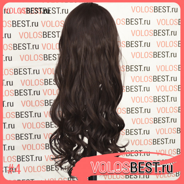 Волосы на заколках завитые шоколад набор №4