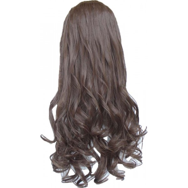 Волосы на заколках завитые набор светло коричневый №6
