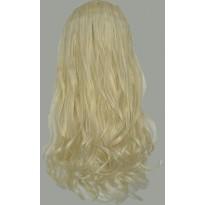 Волосы на заколках завитые шведский блонд набор №613