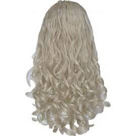 Волосы на заколках завитые стальной блонд №88